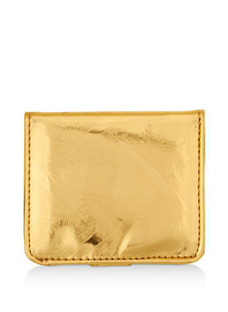 Mini Textured Holographic Bifold Wallet - 3126067447097
