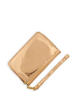 Faux Patent Leather Wristlet - 3126067447099