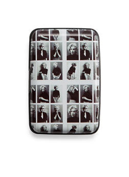 Graphic Cardholder Wallet with Marilyn Monroe Print - 3126067448138