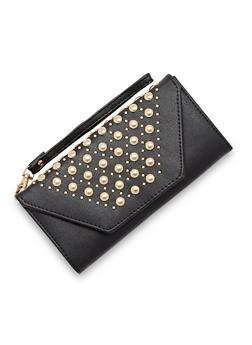 Studded Envelope Flap Wristlet - 3126073401127
