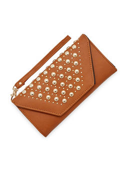Studded Envelope Flap Wristlet - 3126073401127