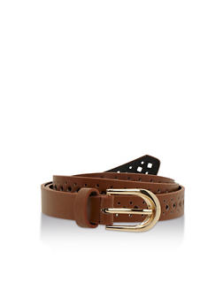 Lasercut Faux Leather Belt - 3128041650474