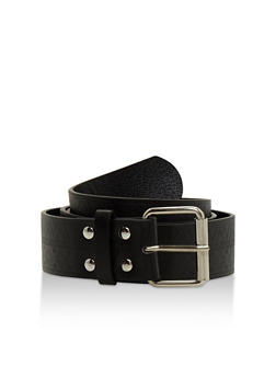 Plus Size Aztec Embossed Faux Leather Belt - 3128041651474
