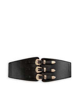 Triple Buckle Waist Belt - 3128041652612