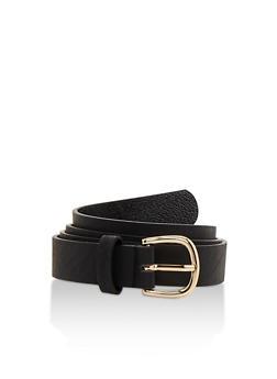 Skinny Faux Leather Belt - 3128041656143