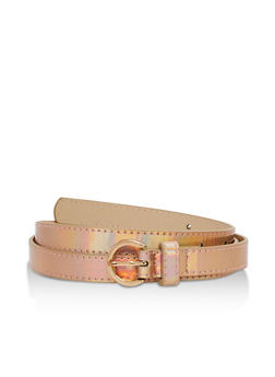 Skinny Faux Leather Belt - 3128073330203