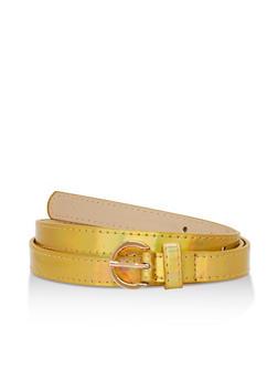 Skinny Faux Leather Belt - 3128073330203