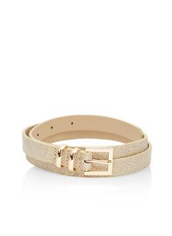Skinny Glitter Belt - 3128073330380