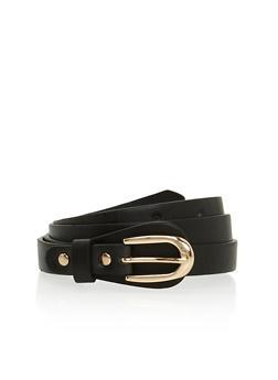 Skinny Faux Leather Belt - 3128073330807