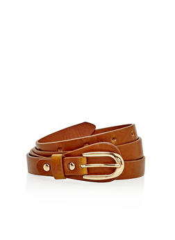 Skinny Faux Leather Belt - 3128073330807