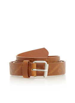 Aztec Embossed Faux Leather Belt - 3128073330822