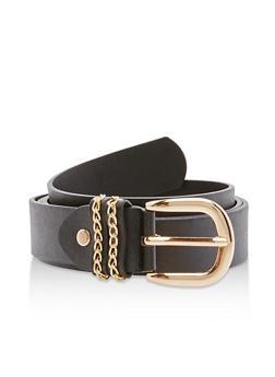 Plus Size Faux Leather Chain Detail Belt - 3128073331207