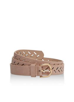 Lasercut Faux Leather Belt - 3128073331405