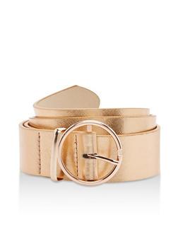 Plus Size Faux Leather Loop Belt - 3128073334507