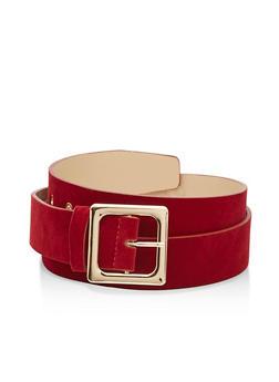 Plus Size Velvet Belt - 3128073335191