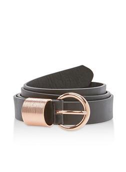 Faux Leather Spring Loop Belt - 3128073337020