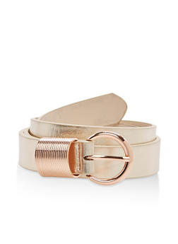 Faux Leather Spring Loop Belt - 3128073337020