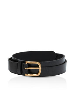 Faux Leather Belt - 3128073337041