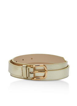 Faux Leather Belt - 3128073337041