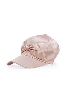 Satin Bow Baseball Hat - 3129041651037