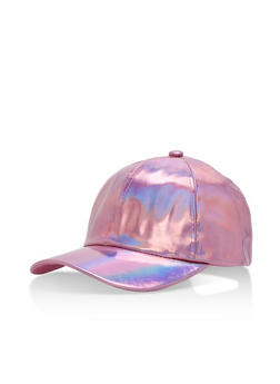Mirrored Metallic Baseball Cap - 3129041656366