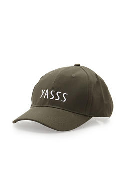 Yasss Graphic Baseball Cap - 3129041658963