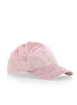 Crushed Velvet Baseball Cap - 3129067440761