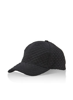 Quilted Oval Baseball Cap - 3129067441407