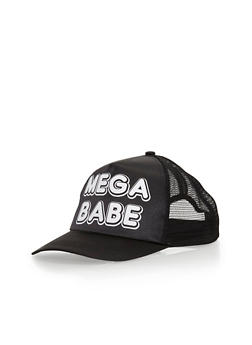 Satin Mega Babe Graphic Trucker Hat - 3129067441607