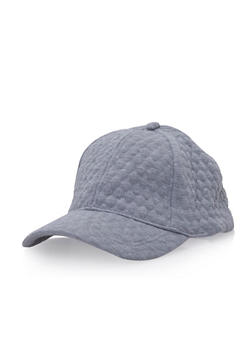 Quilted Baseball Hat - 3129067446406