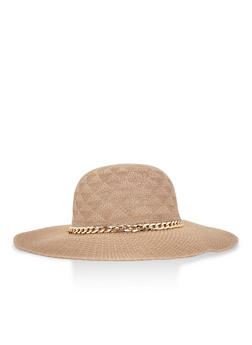 Floppy Hat with Chain Link Trim - 3129067447009
