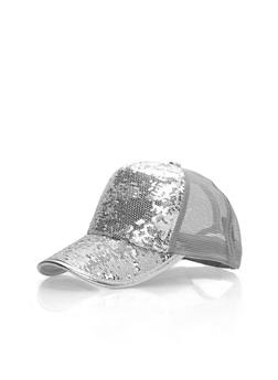 Sequined Trucker Cap - 3129067447020