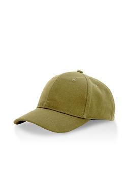 Solid Canvas Snapback Baseball Cap - 3129067447026