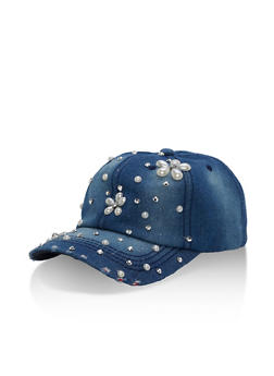 Bedazzled Denim Hat - 3129067447035