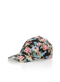 Floral Print Baseball Cap - 3129067447043