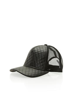 Quilted Trucker Hat - 3129067447044