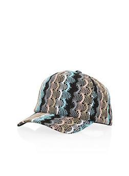 Crochet Snapback Baseball Cap - 3129067447062