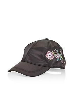 Satin Embroidered Baseball Cap - 3129067447063