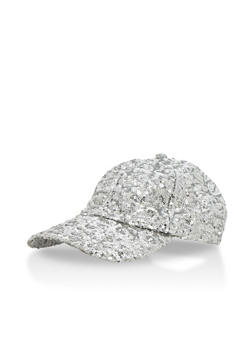 Sequined Snapback Baseball Hat - 3129067447066