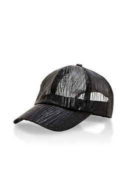 Mesh Shadow Stripe Snapback Hat - 3129067447067