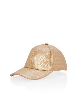 Heart Quilted Snapback Cap - 3129067447072