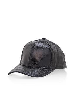 Crinkled Foil Baseball Cap - 3129067447073