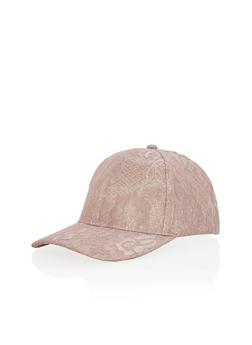 Lace Lurex Snapback Cap - 3129067447075