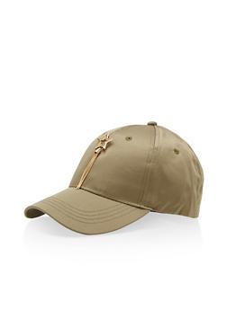 Satin Lucky Star Charm Baseball Hat - 3129067447087