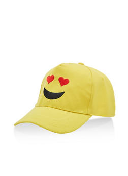 Heart Eyes Emoji Baseball Hat - 3129067447090
