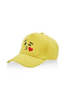 Kiss Emoji Baseball Hat - 3129067447091