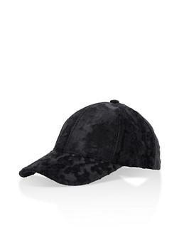 Crushed Velvet Baseball Hat - 3129067447099