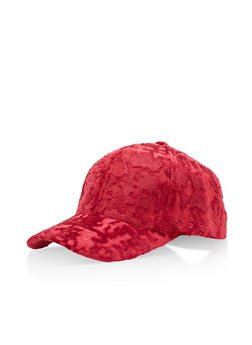 Crushed Velvet Baseball Hat - 3129067447099