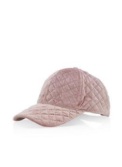 Quilted Velvet Baseball Hat - 3129067447100