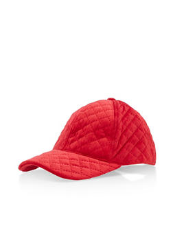 Quilted Velvet Baseball Hat - 3129067447100